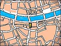 Close-up of digital map