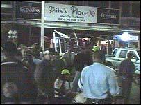 The scene of the blast
