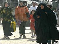 Iraqi women near Baghdad