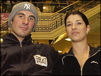 Joe Calzaghe with wife Mandy