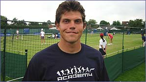Taylor Dent was warming up at Surbiton for Wimbledon 2003
