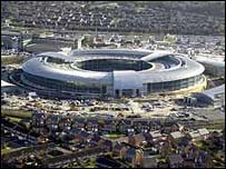 The 'doughnut' - the new home of GCHQ in Cheltenham