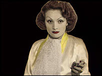Marlene Dietrich cut-out