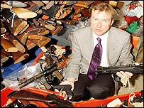 John Hesketh of West Midlands Police with amnesty haul