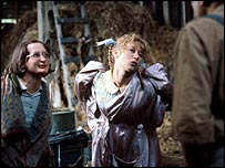 Helen Mirren (centre) in Denis Potter's Blue Remembered Hills