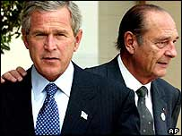 Messrs Bush and Chirac