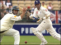 Alec Stewart playing against Australia in 2002