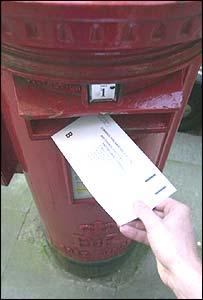 Posting a ballot slip