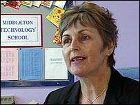 Head teacher Pam Coward