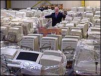Warehouse of computers