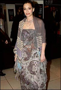 Kristin Scott Thomas at the 2003 Bafta film awards in London