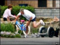 George W Bush falls off a Segway