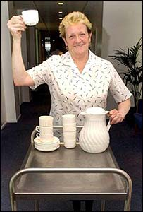 Isa Allan, the Scottish Enterprise tea lady appointed an MBE