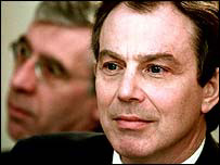 Jack Straw and Tony Blair