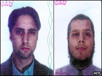 Israeli television has shown passports alleged to belong to the two men