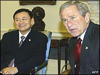 Thaksin visiting Washington earlier this week