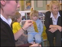Speech therapy in a nursery