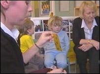 Speech therapy in a nursery