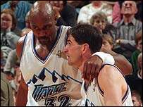 Karl Malone and John Stockton were given a rousing send-off