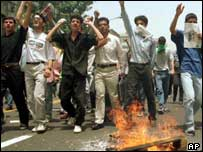 Student protests in Tehran, 1999