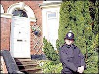 Police guard