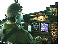 Cockpit of research airplane