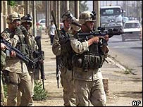 US soldiers in Falluja