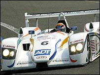 The number 6 Audi of Emanuele Pirro, JJ Lehto and Stephan Johansson