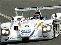 The number 6 Audi of Emanuele Pirro, JJ Lehto and Stephan Johansson
