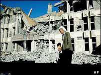 Bombed building in Kirkuk