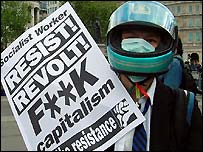 May Day protester 2003