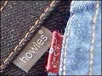 The Howies and Levi jean labels