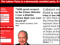 Labour's website back intact