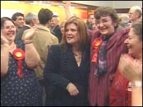 Labour supporters in Plymouth