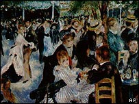 Detail of Renoir's Au Moulin de la Gallete