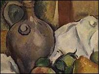 Detail from C�zanne's Pichet Et Assiette De Poires