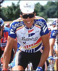 Miguel Indurain of Spain rides during the 1993 Tour de France