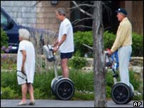 The Presidents George Bush on matching Segways