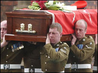 Corporal Allbutt's coffin