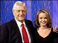 Michael Parkinson with Amanda Holden