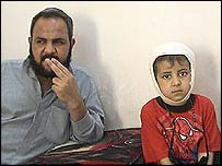 Khalid Yunis and his son Mohammed