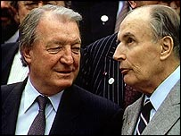 Haughey with France's President Mitterrand