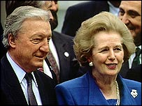 Haughey with Margaret Thatcher