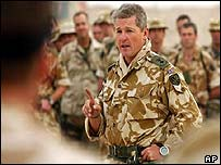 Lieutenant Colonel Tim Collins, commanding officer of the Royal Irish Regiment
