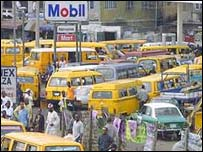 Queue for petrol in Nigeria