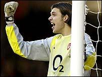 Arsenal keeper Stuart Taylor