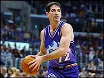John Stockton in action for the Utah Jazz