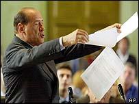 Italian Prime Minister Silvio Berlusconi in court