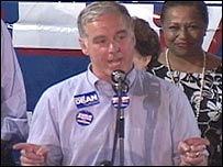 Howard Dean giving speech