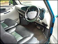 Inside of electric car